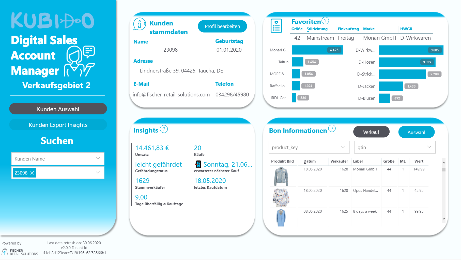 Unser DSAM Dashboard - Overview